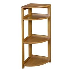 Flip Foldable Corner Bookcase - Medium oak