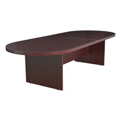 Legacy Series Racetrack Conference Table w/ Power - Shown in mahogany