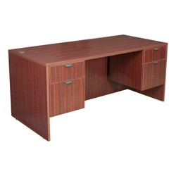 Legacy Series Double-Pedestal Desk - Shown in mahogany