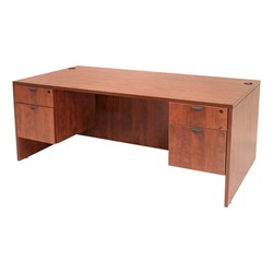 Legacy Series Double-Pedestal Desk - Shown in cherry