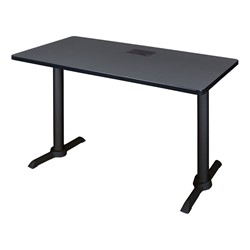 "Cain Training Table w/ Power Source (24"" W x 42"" L) - Gray"