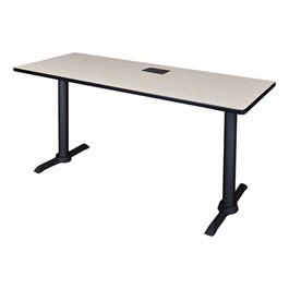 "Cain Training Table w/ Power Source (24"" W x 60\"" L) - Maple"