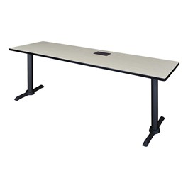 "Cain Training Table w/ Power Source (24"" W x 84\"" L) - Maple"