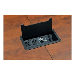 Legacy Series Racetrack Conference Table w/ Power - Power and data block