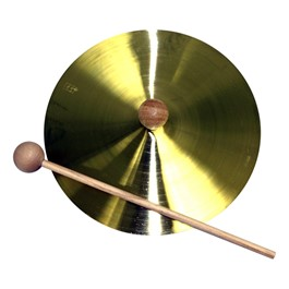 Brass Cymbal w/ Mallet (Single)