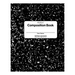 "Composition Book (9 3/4"" W x 7 1/2"" L) - 100 sheets"