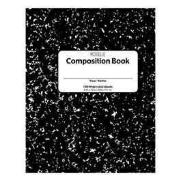 "Composition Book (9 3/4\"" W x 7 1/2\"" L) - 100 sheets"