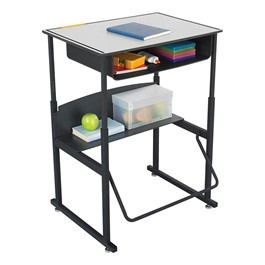 "AlphaBetter Stand-Up Desk w/ Book Box - Phenolic Top (28"" W x 20\"" D)"