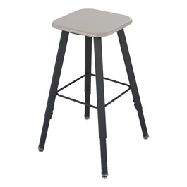 AlphaBetter Adjustable Height Stool w/ Kydex Seat - Beige seat