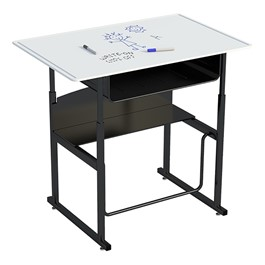 "AlphaBetter Stand-Up Desk w/ Book Box - Whiteboard Top (36"" W x 24\"" D)"