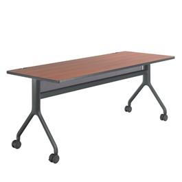 Rumba Series Training Table - Rectangle<br>Biltmore cherry laminate & black powder-coated legs