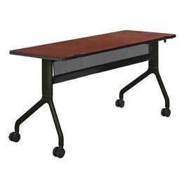 Rumba Series Training Table - Rectangle<br>Biltmore cherry laminate & black powder-coated legs