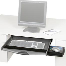 Ergo-Comfort Keyboard Drawer w/ Slide-Out Mouse Platform