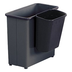 Paper Pitch Recycling Wastebasket shown attatched to another wastebasket (not included)
