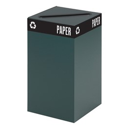 Waste & Recyclable Receptacle Base - 25 Gallons (Green)