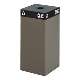 Waste & Recyclable Receptacle Base - 31 Gallons (Brown)