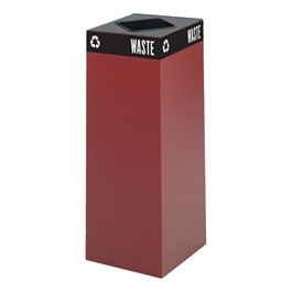 Waste & Recyclable Receptacle Base - 37 Gallons (Burgundy)