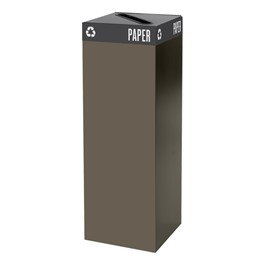 Waste & Recyclable Receptacle Base - 42 Gallons (Brown)