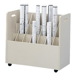 Mobile Roll File - 21 Compartments