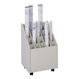 Mobile Roll File - 20 Compartments