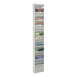 Steel Magazine Rack<br>Shown in gray w/ 23 Vertical Openings