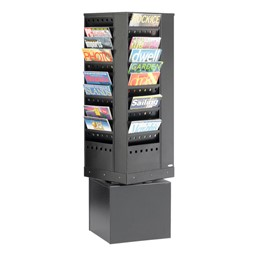 Steel Rotary Display Rack<br>Shown in black w/ 44 vertical openings