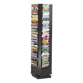 Steel Rotary Display Rack<br>Shown in black w/ 92 Vertical Openings