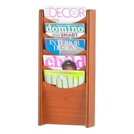 Wood Display Rack<br>Shown in cherry w/ five vertical openings