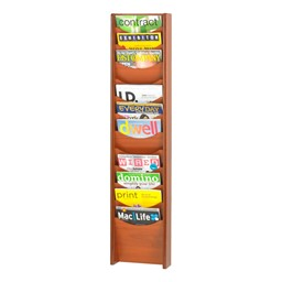 Wood Display Rack<br>Shown in cherry w/ 12 vertical openings