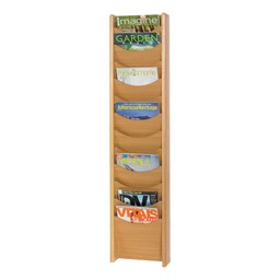 Wood Display Rack<br>Shown in medium oak w/ 12 vertical openings