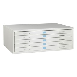 """Facil Five-Drawer Flat File (For Documents 30\"""" W x 42\"""" L)"""