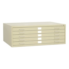 Five-Drawer Steel Flat File Cabinet - Tropic Sand