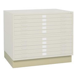 Five-Drawer Steel Flat File Cabinet - White