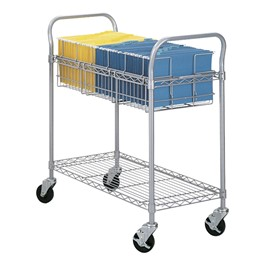 """36\"""" Wire Mail Cart"""