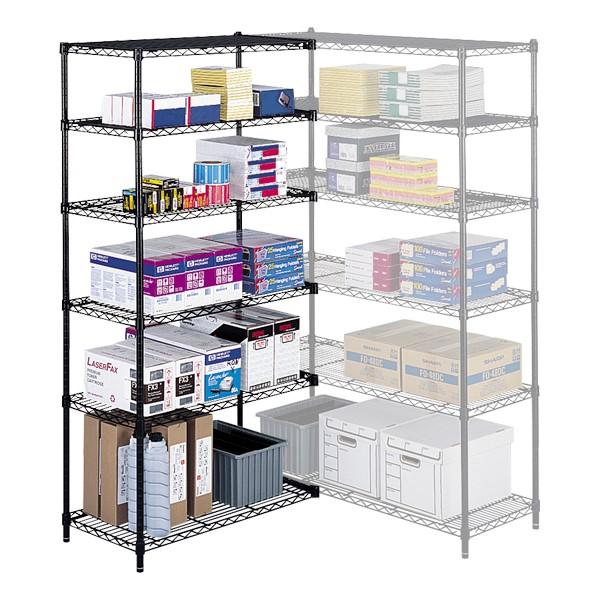 Industrial Wire Shelving<br>Shown w/ extra shelves & adder unit