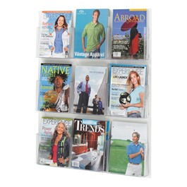 Clear2c Magazine Display - 9 Openings