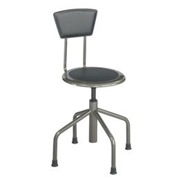 "Diesel Series Industrial Stool w/ Backrest – Adjustable Height (16"" - 22\"" H)"