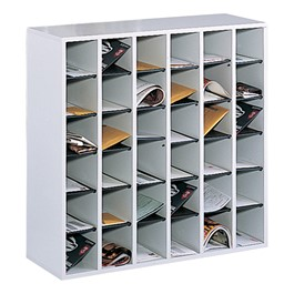 E-Z Stor Wood Mail Sorter - 36 Compartments
