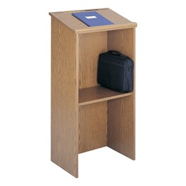 Floor Lectern - Shown in medium oak