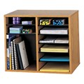 Wood Adjustable-Compartment Literature Organizer