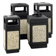 Aggregate Panel Outdoor Trash Can w/ Lid