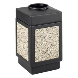 Aggregate Panel Outdoor Trash Can - Top Opening
