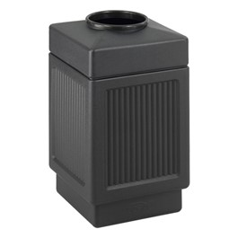Recessed Panel Outdoor Trash Can - Top Opening