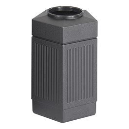 Five-Sided Panel Indoor/Outdoor Trash Can (30 Gallons)
