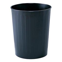 Round Steel Wastebaskets (5.8 Gallons)<br>Shown in black