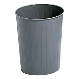 Round Steel Wastebaskets (5.8 Gallons)<br>Shown in charcoal
