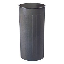 Round Steel Wastebaskets (20 Gallons)<br>Shown in charcoal