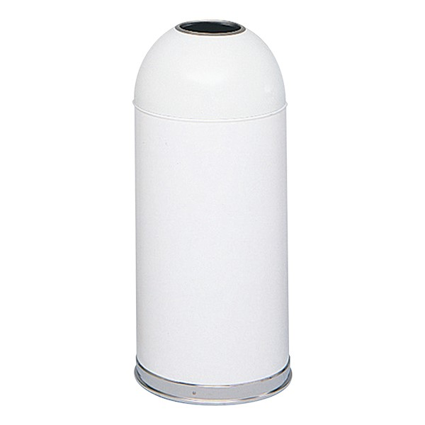Dome-Top Waste Receptacle w/ Open Top<br>Shown in white