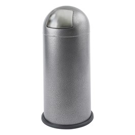Black Speckle Series - Waste Receptacle w/ Dome Push Top (15 Gallons)