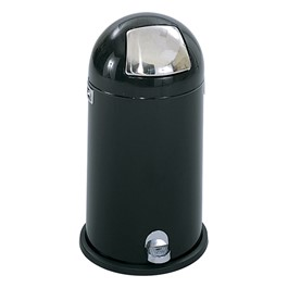 Dome-Top Step-On Waste Receptacle (9 Gallons)<br>Shown in black